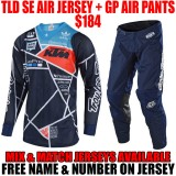 2018 TLD SE AIR/ GP AIR METRIC KTM GEAR COMBO NAVY/ ORANGE