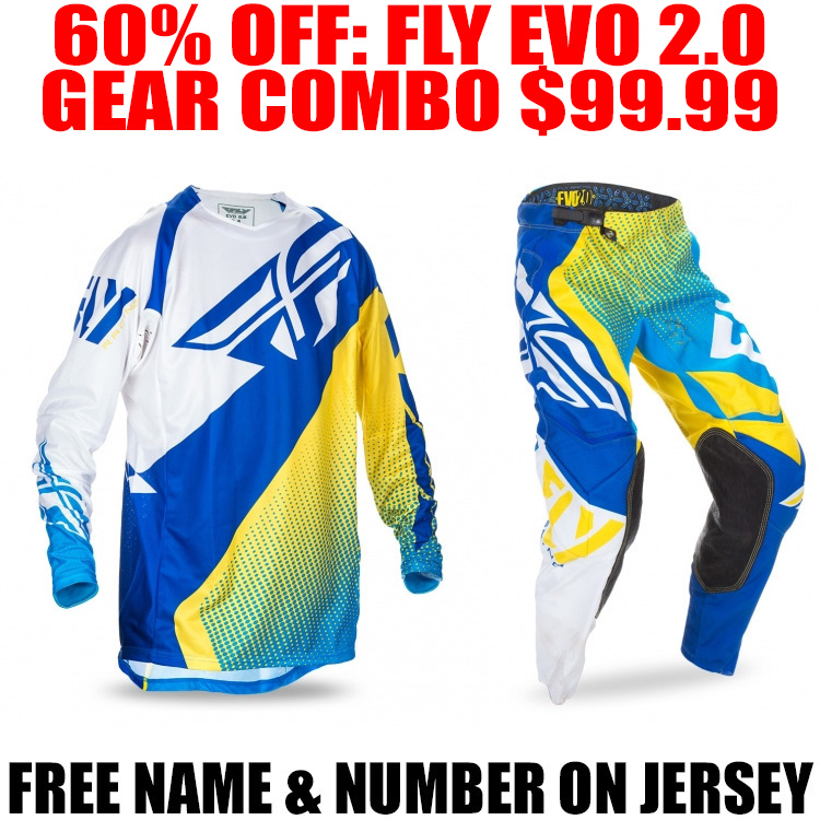 Blue//Yellow//White, X-Large Fly Racing Unisex-Adult Eva Jersey