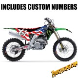 2018 Team USA MXoN Monster Kawasaki D'cor Graphic Kit