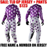 2018 TLD GP POLKA GEAR COMBO PURPLE