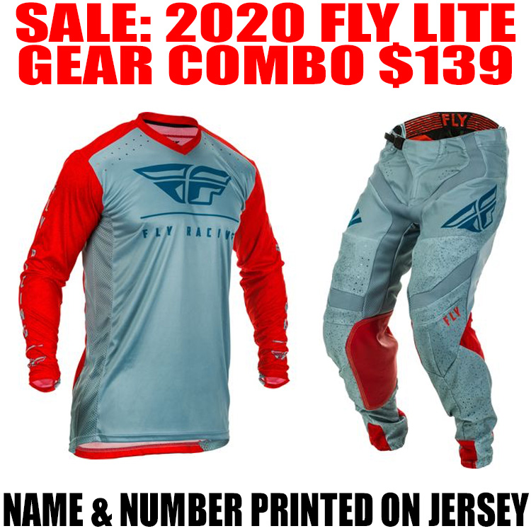 2020 FLY LITE GEAR COMBO RED/ SLATE