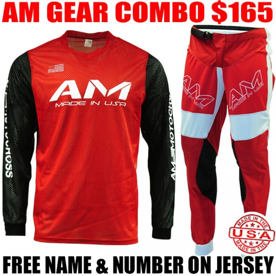 AM MESH JERSEY/ AIR PANTS GEAR COMBO RED/ BLACK
