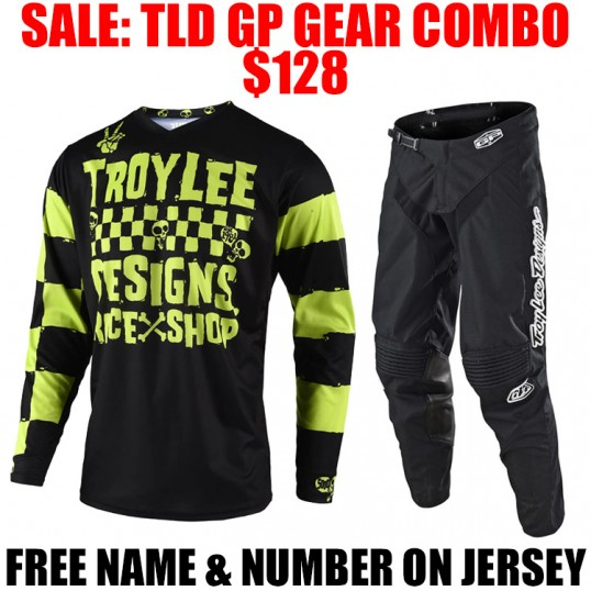 TLD GP RACESHOP 5000 GEAR COMBO BLACK/ LIME