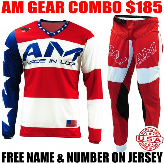 AM STARS & BARS GEAR COMBO RED/ WHITE/ BLUE