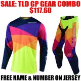 TLD GP JET GEAR COMBO YELLOW