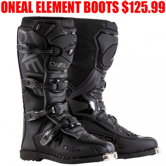 2020 ONEAL MX ELEMENT BOOTS BLACK