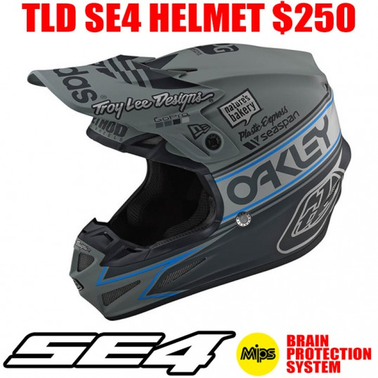 2019 TLD SE4 POLYACRYLITE TEAM EDITION 2 HELMET GRAY