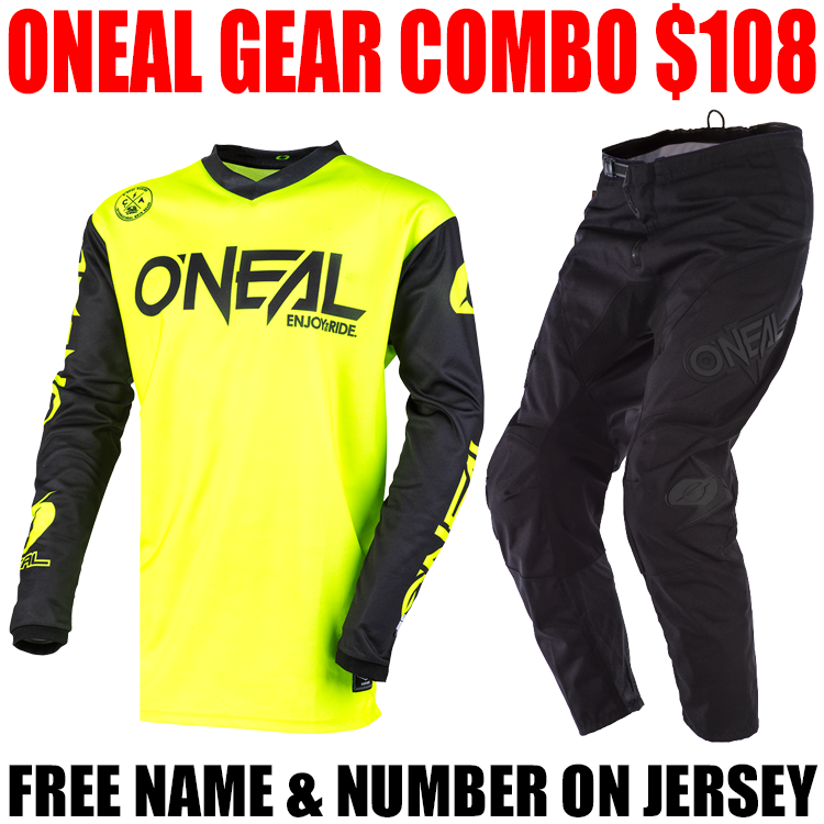 ONEAL THREAT GEAR COMBO NEON YELLOW/ BLACK