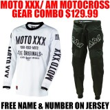 MOTO XXX/ AM GEAR COMBO VENTED WHITE