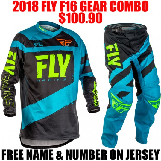 2018 FLY RACING F16 GEAR COMBO BLUE