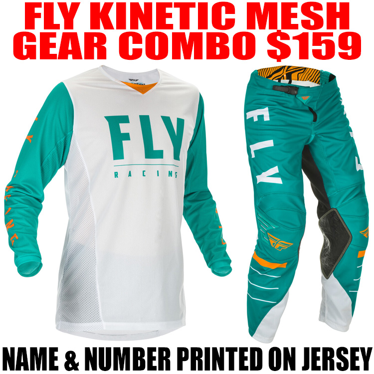 2020.5 FLY KINETIC MESH GEAR COMBO WHITE/ TEAL