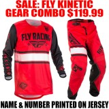 2018 FLY KINETIC ERA GEAR COMBO RED