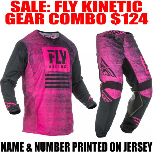 2019 FLY KINETIC NOIZ GEAR COMBO NEON PINK