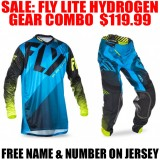 2017 FLY LITE HYDROGEN GEAR COMBO BLUE