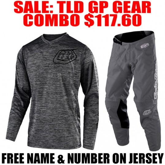 TLD GP MONO GEAR COMBO HEATHER GRAY